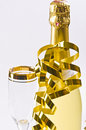 Champagne, glass, New Year's Eve Royalty Free Stock Image