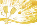 Champagne Glasses on Wave Background Royalty Free Stock Photography