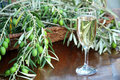 Champagne and Olives Stock Photography