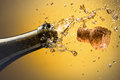 Champagne opening a bottle of celebration concept Royalty Free Stock Photos
