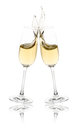 Champagne toast celebration with flutes Royalty Free Stock Photography