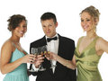 Champagne Trio Royalty Free Stock Image
