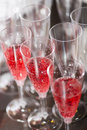 Champaign glasses close up of ready to be served Royalty Free Stock Photo