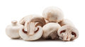Champignon mushrooms on white backround Stock Photography