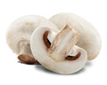 Champignon mushrooms white backround clipping path Royalty Free Stock Photos