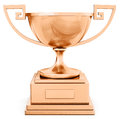 Champion bronze trophy cup Royalty Free Stock Photo