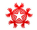 Champion red star with wings victory logo Royalty Free Stock Photo