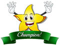 A champion star illustration of on white background Stock Photos