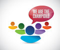 We are the champions illustration design over a white background Stock Photo