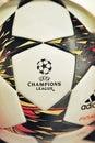 Champions league ball at fc bayern megastore Royalty Free Stock Photo