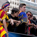 Champions League celebration of FC Barcelona Royalty Free Stock Photography