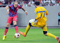 Champions league steaua bucharest dinamo tbilisi s iasmin latovlevici scores a goal during the qualifier game between romania and Stock Photo