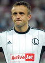 Champions league steaua bucharest legia warsaw s miroslav radovic pictured before the uefa play offs game between romania and Stock Photos