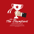 Champions vector illustration concept eps Royalty Free Stock Photography