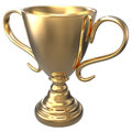 Championship gold trophy award d render with clipping path Royalty Free Stock Photography