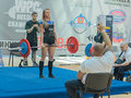 Championship of russia on powerlifting in moscow june athlete erina victoria action during the russian event june Stock Image