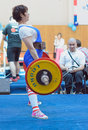 Championship of russia on powerlifting in moscow june athlete korolevskaya natalya action during the russian event june Stock Image