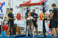 Championship of russia on powerlifting in moscow june athlete maria medvedeva action during the russian event june Royalty Free Stock Image
