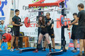 Championship of russia on powerlifting in moscow june athlete sotnikova dasha action during the russian event june Stock Photos