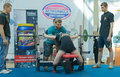 Championship of russia on powerlifting in moscow june athlete sotnikova dasha action during the russian event june Royalty Free Stock Photography
