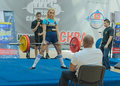 Championship of russia on powerlifting in moscow june athlete umerenkova julia action during the russian event june Stock Photography