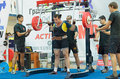 Championship of russia on powerlifting in moscow june athlete yaroshenko irina action during the russian event june Stock Photo