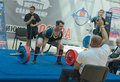 Championship of russia on powerlifting in moscow june athlete yaroshenko irina action during the russian event june Royalty Free Stock Photo
