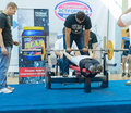 Championship of russia on powerlifting in moscow june participation persons with disabilities action during the russian event Royalty Free Stock Photography