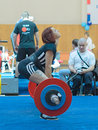 Championship of russia on powerlifting in moscow june unidentified athlete action during the russian event june Stock Images