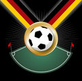 Championship Soccer medal prize for Germany  Royalty Free Stock Photos