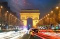 Champs Elysees And Arc De Triu...