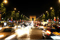 Champs-Elysees Avenue. Elysian fields Royalty Free Stock Photography