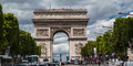 Champs Elysees Avenue Paris Stock Photo
