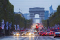 Champs elysees avenue in paris Royalty Free Stock Photography