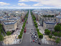 Champs-Elysees in Paris Royalty Free Stock Photo