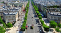 Champs elysees view paris france Stock Images