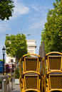 Champs Elysses in the morning Royalty Free Stock Images