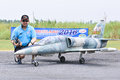 Chanatip Seevaranont pilot of radio control plane in Jet Thailand Competition 2016 .Thailand Royalty Free Stock Photo