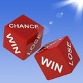 Chance win lose dice shows gambling and choosing Stock Photography
