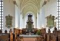 Chancel and altar of the church of holy trinity in kristianstad sweden heliga trefaldighetskyrkan Stock Images