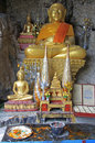 Chancel of buddhist temple in luang prabang laos Stock Photo