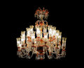 Chandelier antique isolated on black Stock Image