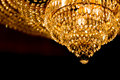 Chandelier beautiful light in hotel Royalty Free Stock Photo