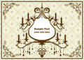 Chandelier brown frame Royalty Free Stock Images