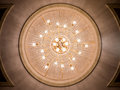 Chandelier ceiling light decoration circle from bottom view Stock Image