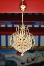 Chandelier closeup in chinese temple Royalty Free Stock Photos
