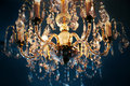 Chandelier crystal Royaltyfria Bilder