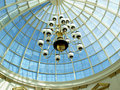 Chandelier and dome Royalty Free Stock Photo