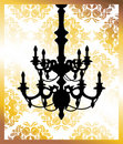 Chandelier on golden flower pattern Stock Photography