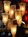 Chandelier lamps at oriental market in istanbul Stock Photography